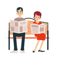 an adult couples a man and a woman read a vector image vector image