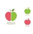 Apples isolated Apples icon Apples logo vector image