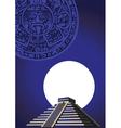 aztec temple vector image vector image
