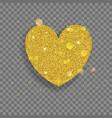 big shiny heart vector image vector image