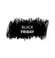 black friday banner trendy style black vector image