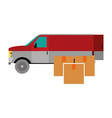 box and truck design vector image