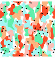 camouflage seamless pattern in a blue green vector image