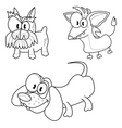 Cartoon dogs vector image vector image