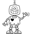 Cartoon smiling robot vector image vector image