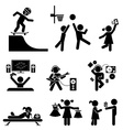 Childhood set Pictogram icon set vector image vector image