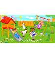 children at the playground vector image vector image