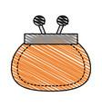 color crayon stripe cartoon fashion women wallet vector image vector image
