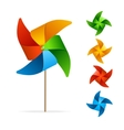 Colorful Windmill Set vector image