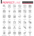 creative process thin line web icons set outline vector image vector image