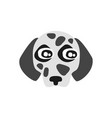 cute dalmatian dog head funny cartoon animal vector image