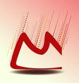 design letter m vector image