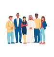 diverse business people multicultural team vector image vector image