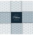 elegant set of line pattern collection design vector image vector image
