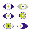 eyes icons vector image