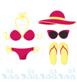 female outfit for a holiday at sea set of clothes vector image vector image