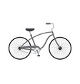 flat cartoon gray cruise bicycle icon vector image