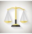 Flat Design Law Symbol Justice Scales Icon on Grey vector image