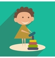 Flat with shadow icon and mobile application child vector image vector image