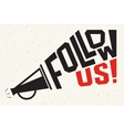 follow us banner for social networks vector image