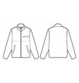 full zip mock neck fashion flats vector image vector image