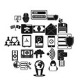 globalization icons set simple style vector image vector image