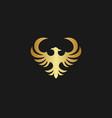 golden phoenix logo vector image