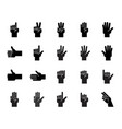 hand counting and gesture icon such as like vector image