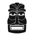 hawaii wood tiki idol icon simple style vector image