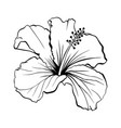 hawaiian hibiscus outline laser cut vector image