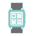 isolated smartwatch design vector image