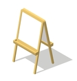 Isometric easel Drawing Whiteboard Paint desk vector image