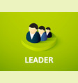 leader isometric icon isolated on color vector image