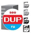 Logo server service vector image