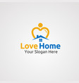 love home logo concept icon element and template vector image