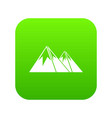 mountains with snow icon digital green vector image
