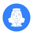 Nurse icon in black style isolated on white vector image vector image