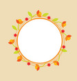 orange doodle circle flower wreath vector image vector image
