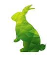origami rabbit vector image vector image