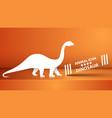 paper dino dinosaur on the orange vector image vector image