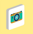 photo camera computer symbol vector image vector image
