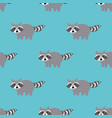 raccoons in a cartoon style seamless pattern vector image