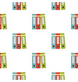 red green blue office folders pattern seamless vector image vector image