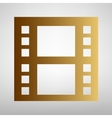 Reel of film sign vector image vector image