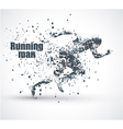 Running Man particle divergent composition vector image
