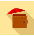 safe wallet icon flat style vector image vector image