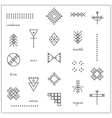 Set of geometric hipster shapes 9711 vector image vector image