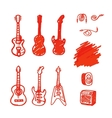 Set of guitars made marker vector image