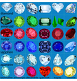 Set of precious stones of different cuts and color vector