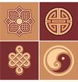 set oriental design elements vector image vector image